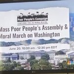 Image for the Tweet beginning: Poor People's Campaign: A National