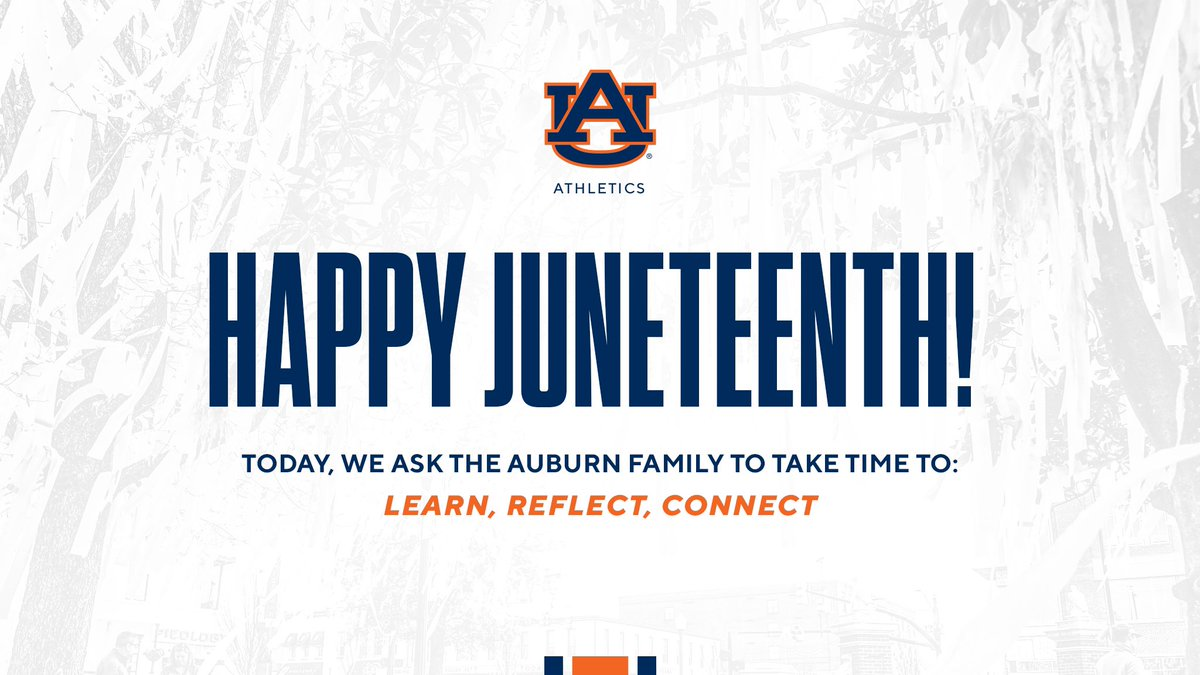 On this #Juneteenth, we encourage the Auburn Family to take time to learn, reflect and connect. https://t.co/bFCo5MY35k