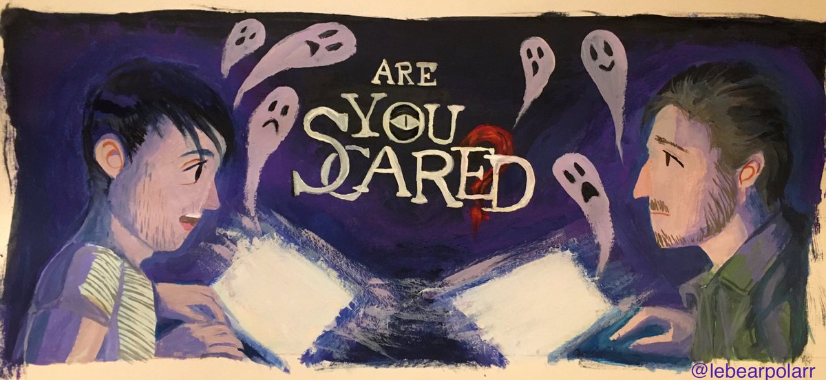 Are You Scared? with @ryansbergara and @shanemadej is out in 2 hours to the public but I already watched it and I loved it! Please watch it!! @wearewatcher   Really loving my new Himi gouache set. Will be painting a lot more. https://t.co/xSNA5NLkri