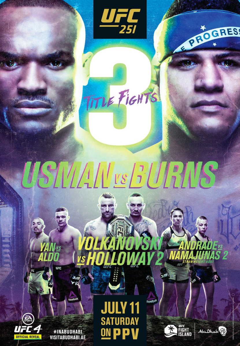 𝗧𝗪𝗢 𝗪𝗘𝗘𝗞𝗦. 🏆🏆🏆  #InAbuDhabi @VisitAbuDhabi #UFC251 https://t.co/KNVX1WhREf
