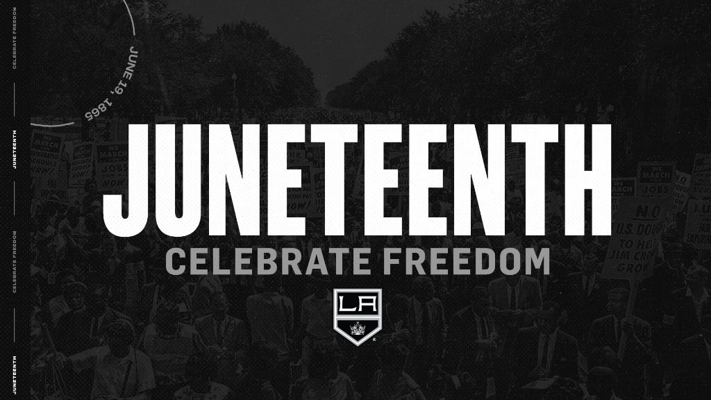 The Kings family celebrates and recognizes the significance of Juneteenth. Juneteenth is the oldest nationally celebrated commemoration of the ending of slavery in the United States.   Take time on #Juneteenth to celebrate, listen, learn and reflect. https://t.co/JCS9xZHmUW