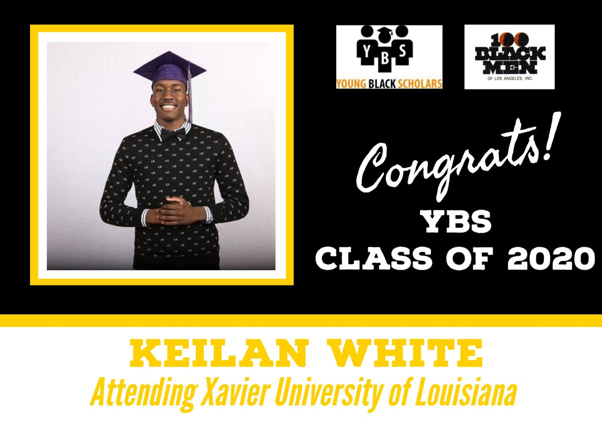 Meet Young Black Scholars' Class of 2020 Senior Keilan White.  Keilan will be attending Xavier University of Louisiana in the Fall.  Congratulations Keilan!  @100bmoa @100BlackMenLA #ybs #100blackmen #youngblackscholars #collegebound