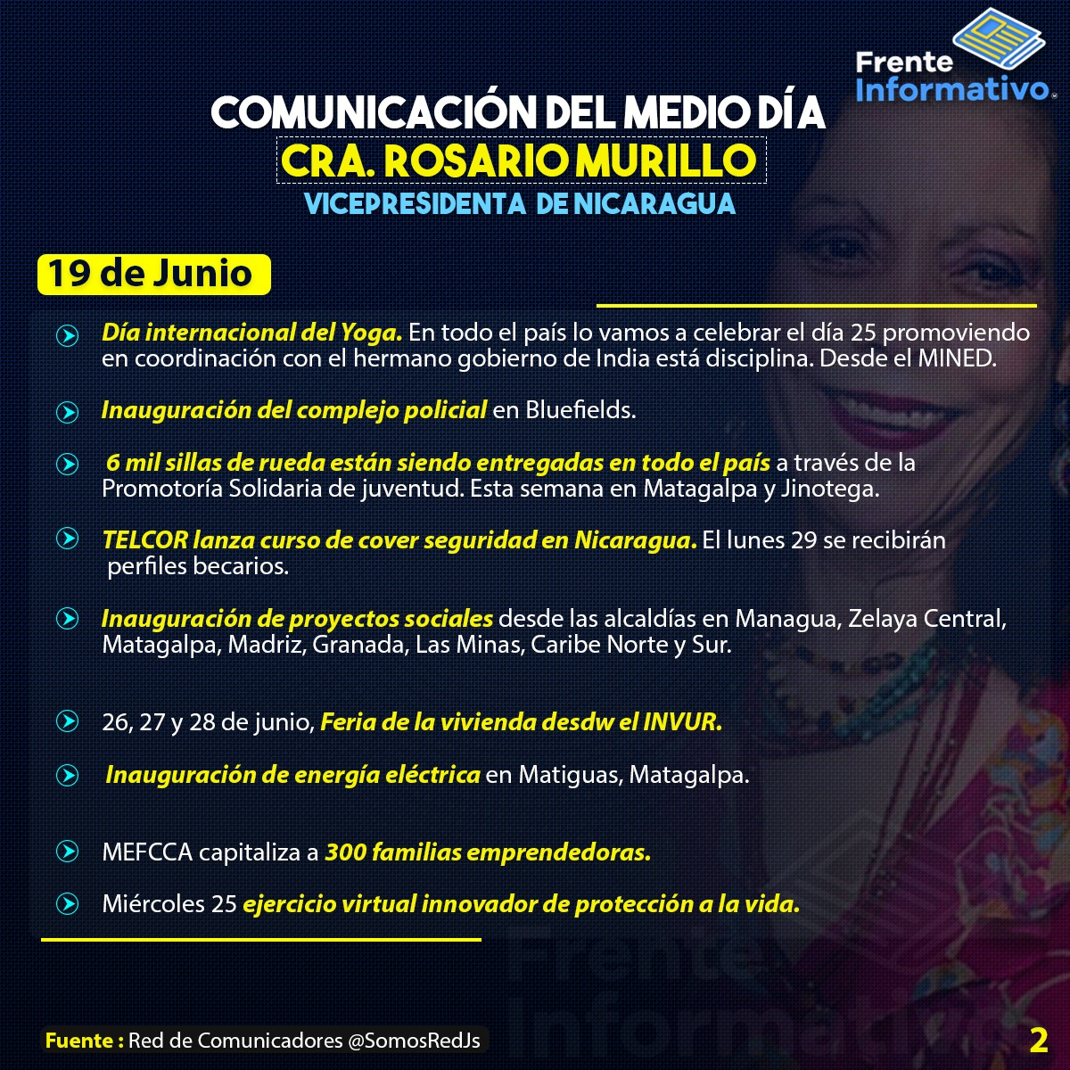 Siempre al frente con el frente.  ❤️🖤  Nicaragua avanza. #Nicaragua  #NicaraguaLinda  #Nicaraguasandinista #NicaraguaQuierePaz https://t.co/d7VxNyqUZR