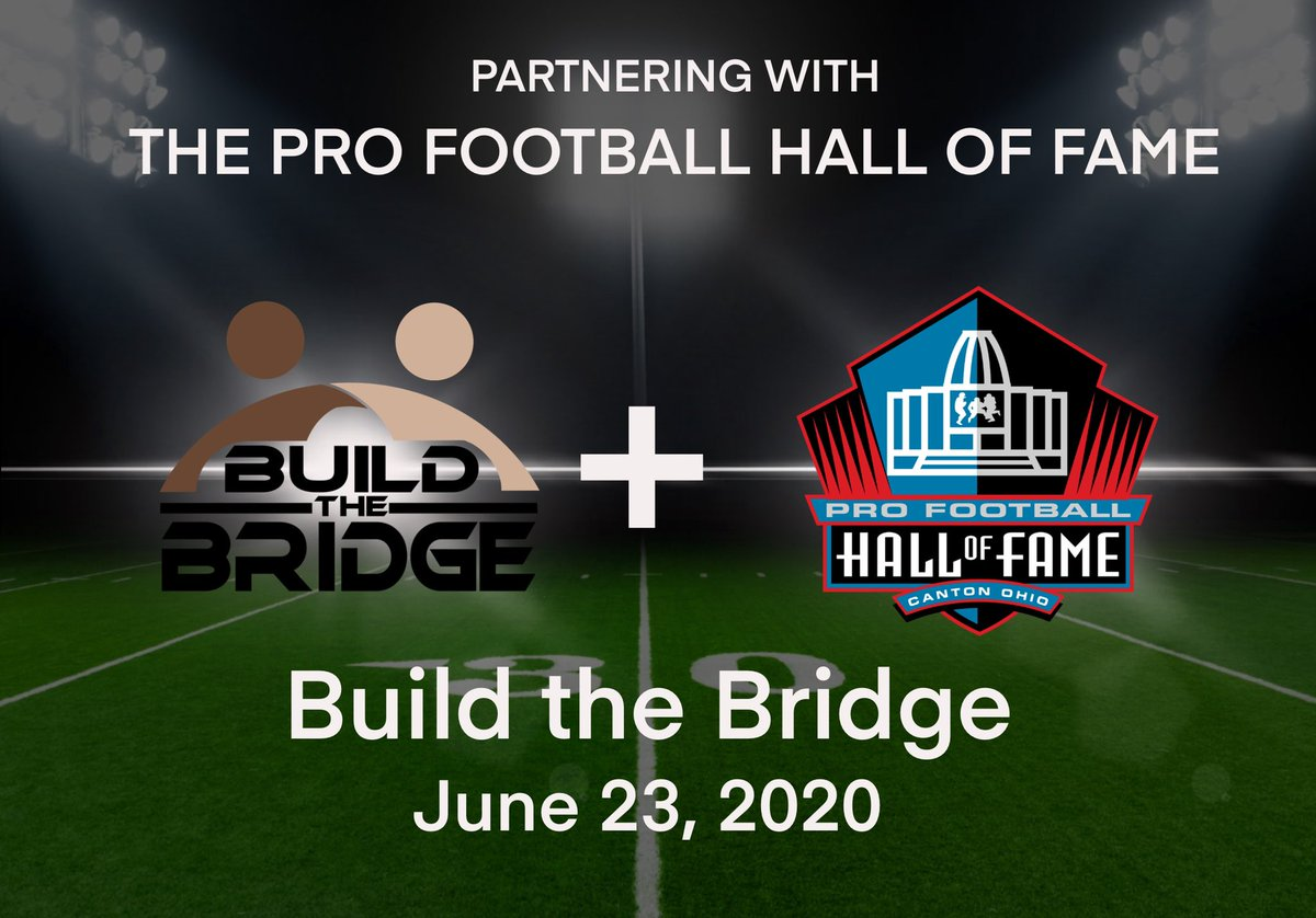 #BuildtheBridge Is proud to partner with the @ProFootballHOF for our June 23 Event!! #bigtime #letsgo https://t.co/JnG6oqZowq