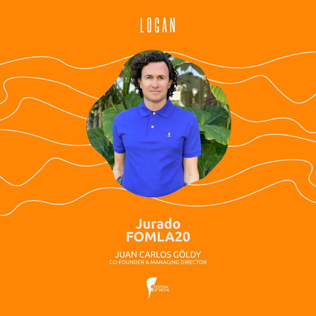 Juan Carlos Göldy, Co-Fundador y Managing Director, elegido por @FestivalOfMedia como jurado de los #FOMLA20, los premios celebran la innovación y creatividad en más de 15 categorías. Para más información ingresá a: https://t.co/zsxxdjNIT0 https://t.co/13QBpNwgMG