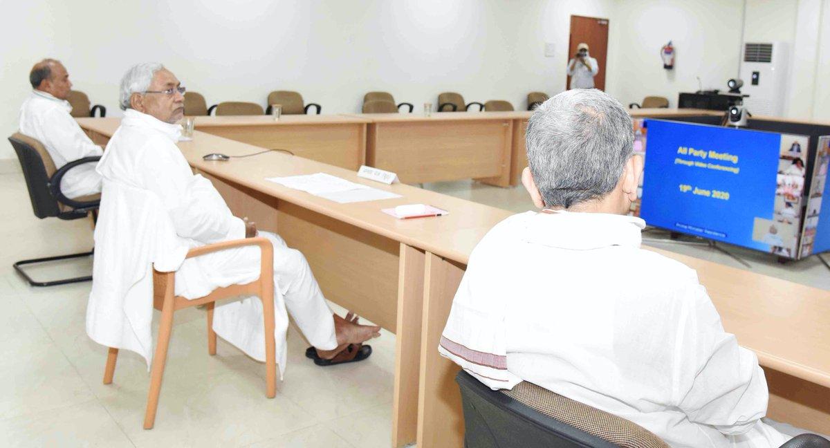 माननीय प्रधानमंत्री श्री नरेन्द्र मोदी द्वारा भारत-चीन सीमा के हालात पर चर्चा करने के लिए वीडियो कॉन्फ्रेंसिंग के माध्यम से बुलाई गई सर्वदलीय बैठक में सम्मिलित होते हुए।  https://t.co/dO89peIGvn https://t.co/YG67HPqVaP