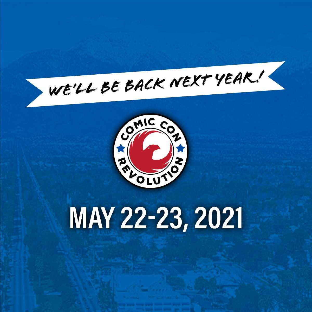 Comic Con Revolution 2020 has been postponed until May 22 & 23, 2021. Please see our website for more info.  https://t.co/h3xtqIUX4c https://t.co/oeO2DdbBPn