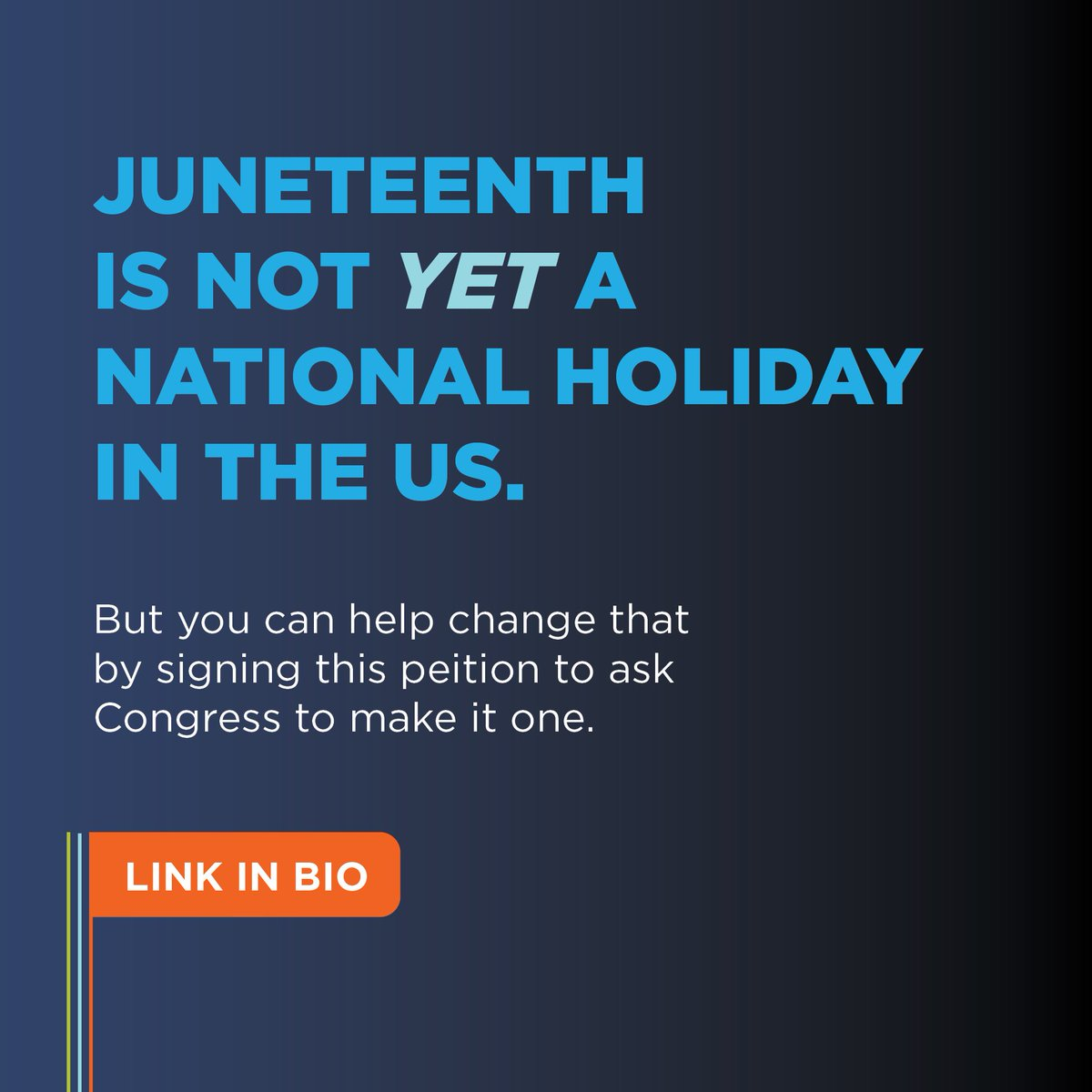 Sign this petition to ask Congress to make #Juneteenth a national holiday here: https://t.co/K8ltU5prV2 https://t.co/bLgD3jmf86