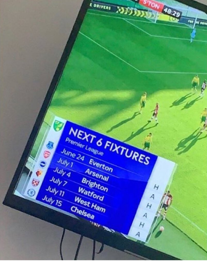 Even Norwich's fixtures are laughing at them https://t.co/psgDPtd6f5