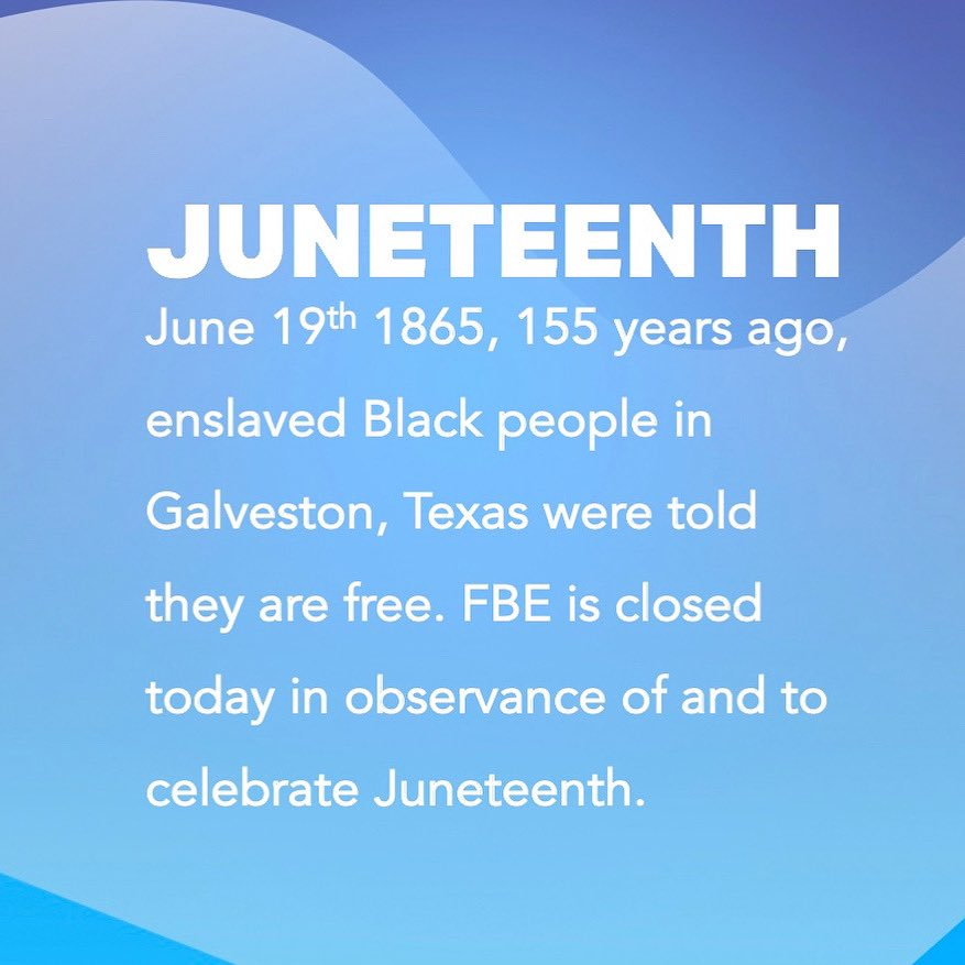Happy Juneteenth. To learn more about Freedom Day, click here: https://t.co/3N3danTHHR https://t.co/dSHt5LLXi0