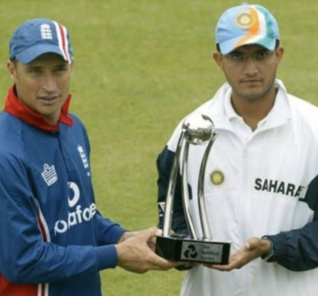Nasser Hussain recently credited Ganguly for infusing new spirit into Indian cricket. (Credits: Twitter/ Sourva Ganguly)