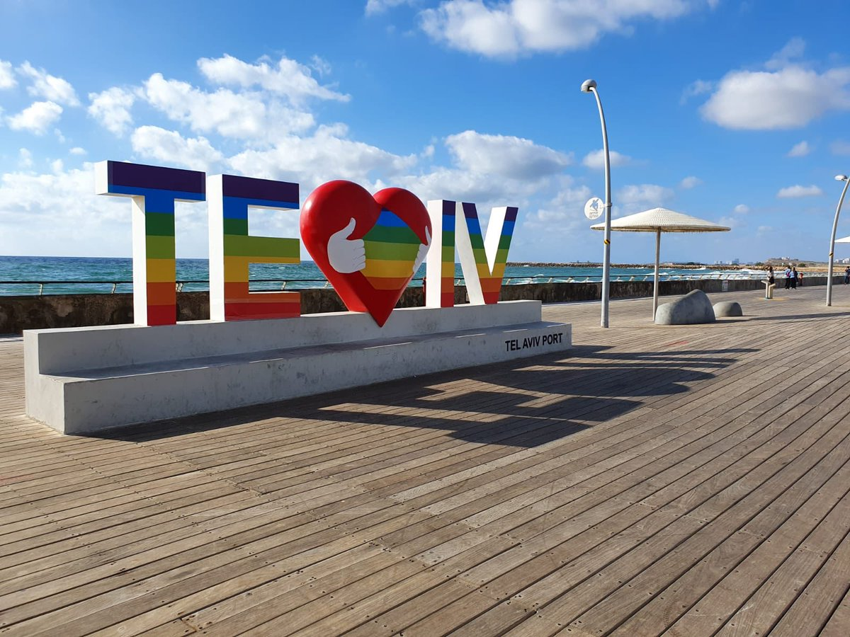 Our beautiful port is dressed for #PRIDE2020!🏳️‍🌈 #ShabbatShalom❤️ 📸 portlv via @instagram   #VisitTelAviv #PrideMonth https://t.co/pfb7Ecm34M