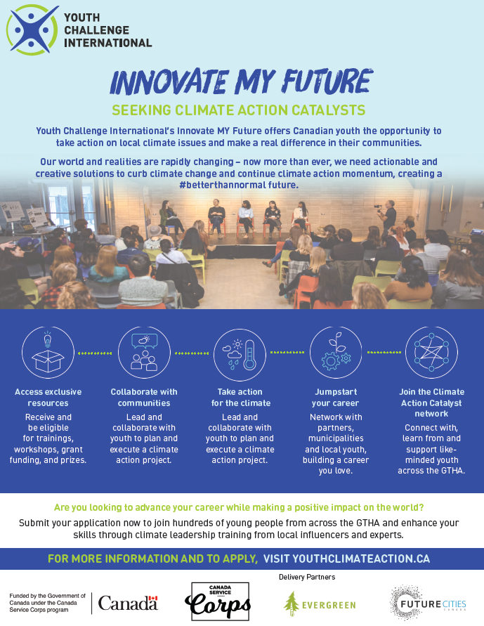Are you an experienced #volunteer looking to lead #ClimateActionNow in the #GTHA?Join @yci_org  #InnovateMYFuture to access exclusive resources and work with local experts and youth to tackle #climateissues in your community https://t.co/yFx1fT9G3q @EvergreenCanada @Jobs_Emplois https://t.co/YQwaMayzF8
