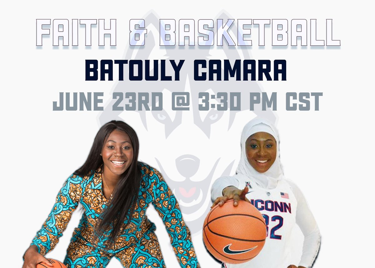 Faith & Basketball Week #8 🏀  Tues June 23rd @ 3:30 pm CST 🗓   @BatoulyCamara is going to share for the first part of the session & after we will have an open discussion. 🗣  Real. Authentic. Vulnerable.   Sign up here ⤵️ https://t.co/F67UO2SQ2L https://t.co/X0tpxzi6Ge