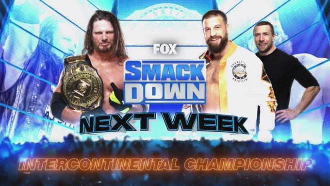 AJ Styles colocará o WWE Intercontinental Championship em disputa no próximo SmackDown