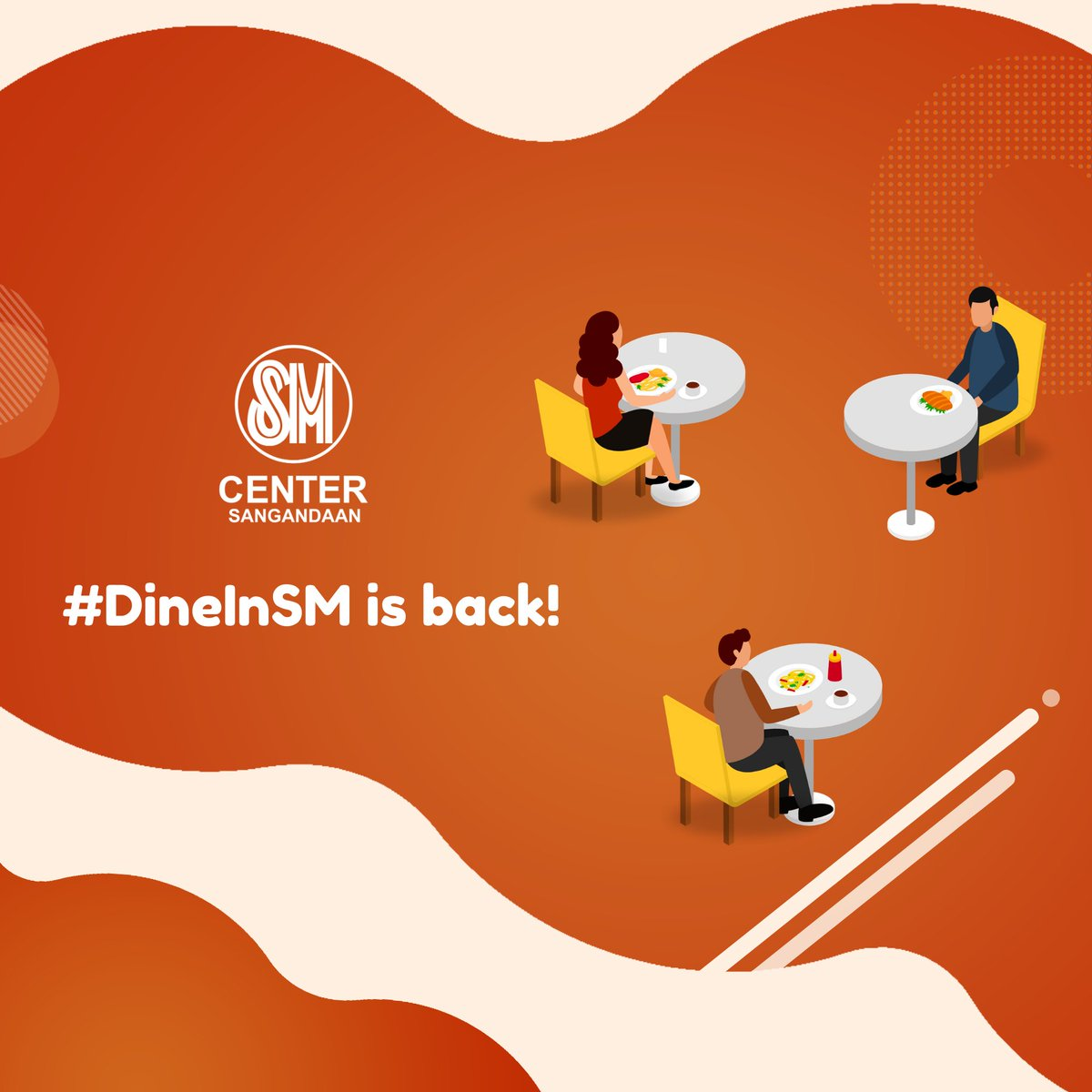 #DineInSM is back. Red heart Your dine-in favorites now open to serve you safely! #SafeMallingAtSM.  Click link for menu guide, store contact details and for table reservation.  https://t.co/0Y667trFnA https://t.co/zVSXEFviWG