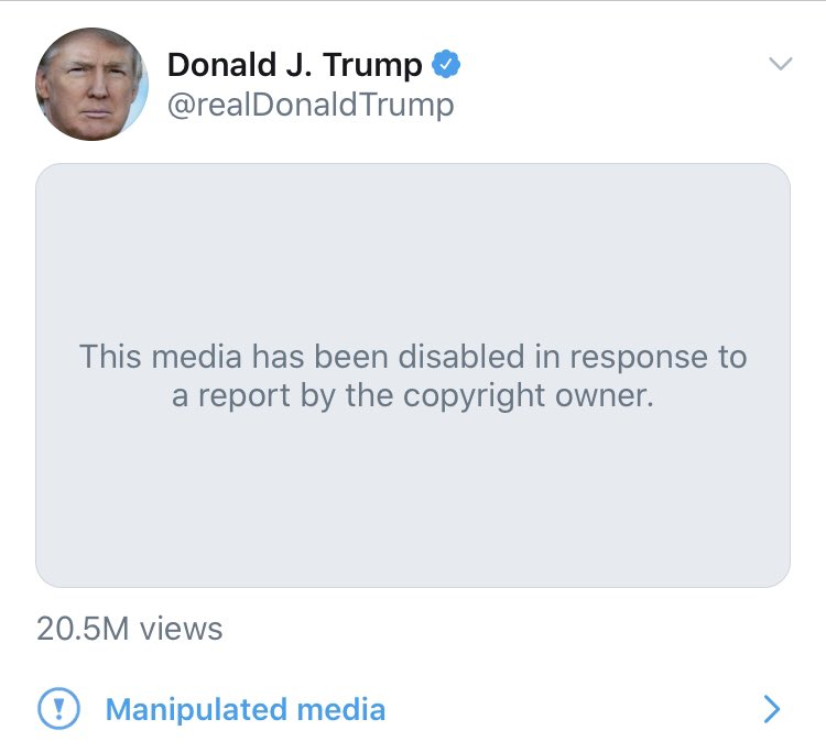 The video Trump tweeted of the two toddlers is now blocked.