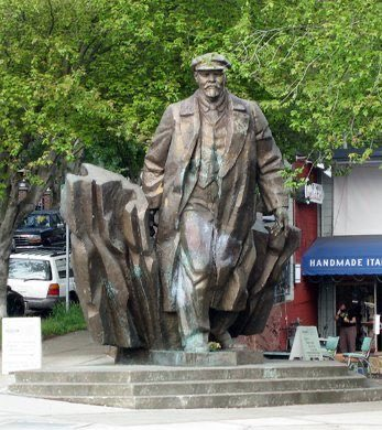Of course the statue of Lenin is unscathed in Seattle...