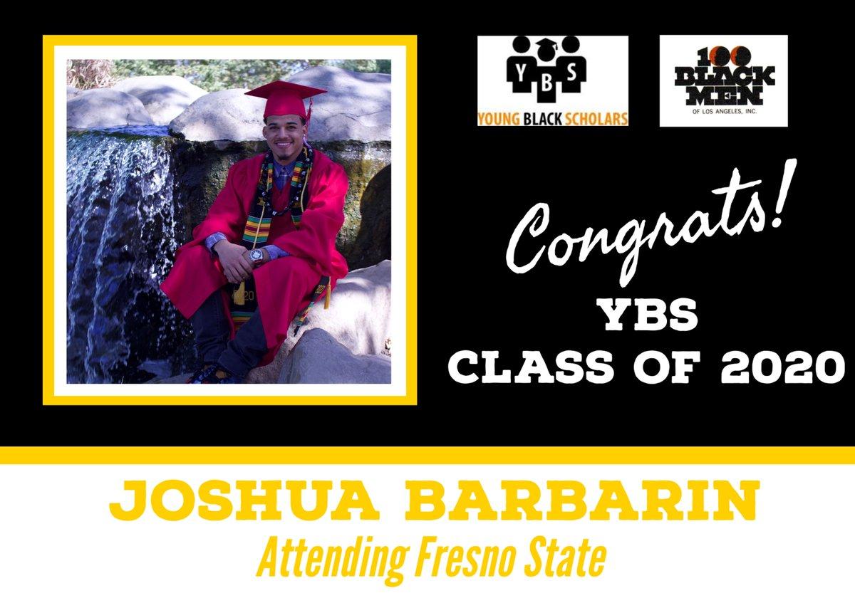 Meet Young Black Scholars' Class of 2020 Senior Joshua Barbarin.  Joshua will be attending Fresno State in the Fall.  Congratulations Joshua!  @100bmoa @100BlackMenLA #ybs #100blackmen #youngblackscholars #collegebound