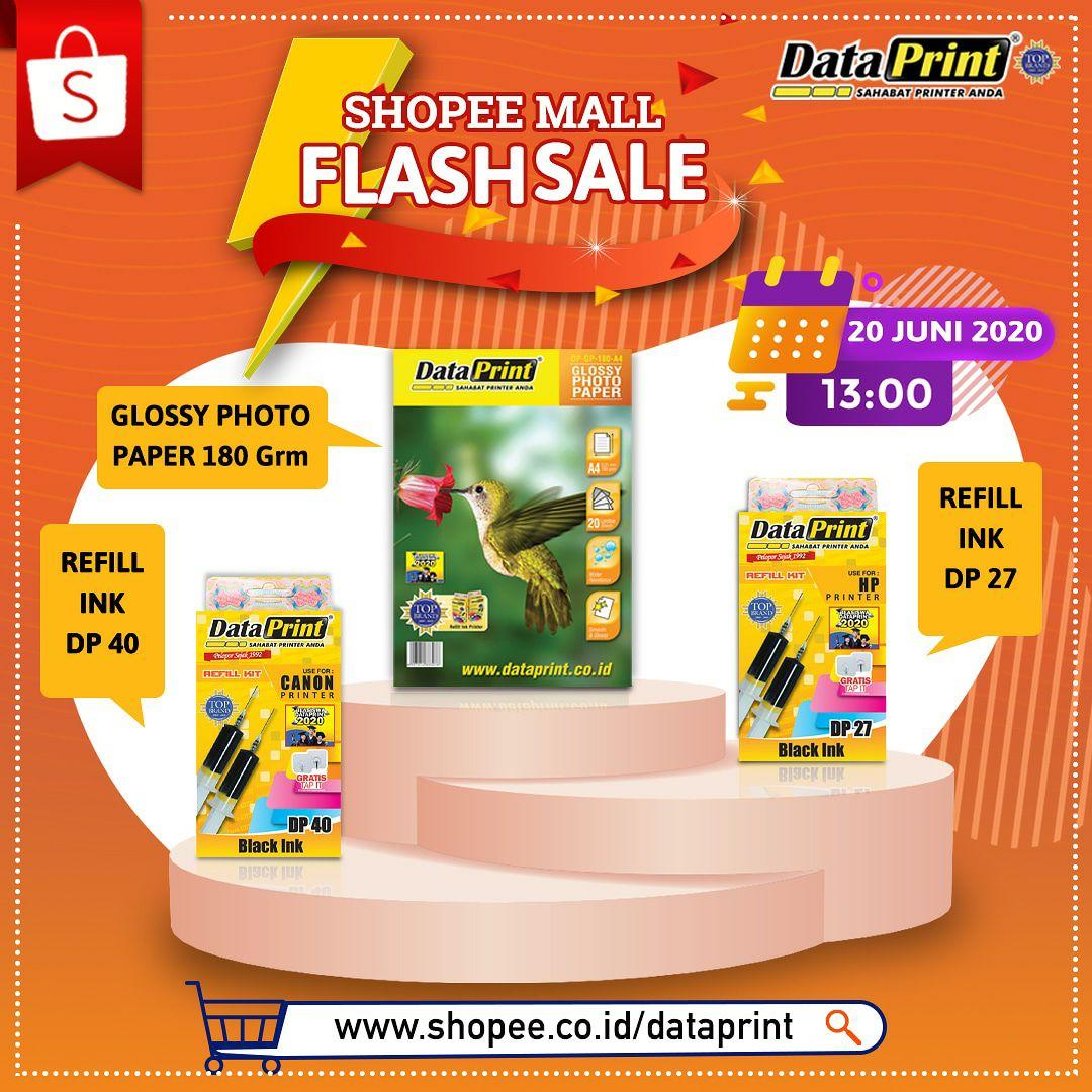DataPrint Mall Flash Sale hanya di Shopee mall DataPrint  Untuk pembelian produk DataPrint tinta refill DP27 , DP40 dan Glossy photo paper 180 hanya di official store DataPrint SHOPEE -> https://t.co/LWYf7K9HCH  Tanggal 20 juni 2020, Pk 13.00  #shopee #sale https://t.co/qQYT3KBsFF
