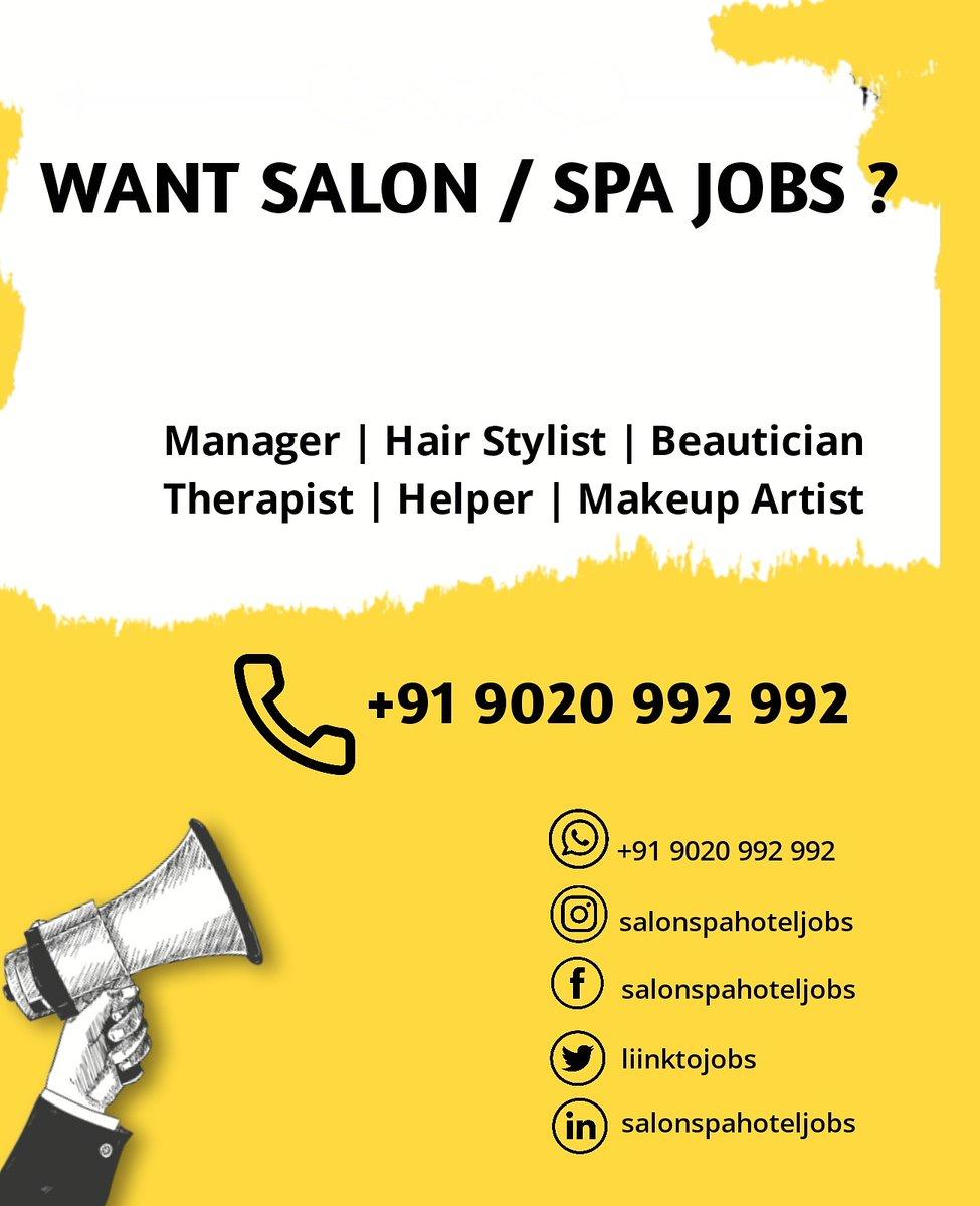 #salonspahoteljobs #salon #salonjobs #hairstylist #jobs #beautician #kerala #keralasalon #hairsalonjobs #salonlife #salonowner #salonnails #salonprofessional #spajobs #keralajobs #indiasalon  #indiasalonjobs #indianmakeupartist #hairstyle #salonjob #jobsearch #spasalon #spapic.twitter.com/LH6KSSCHrA