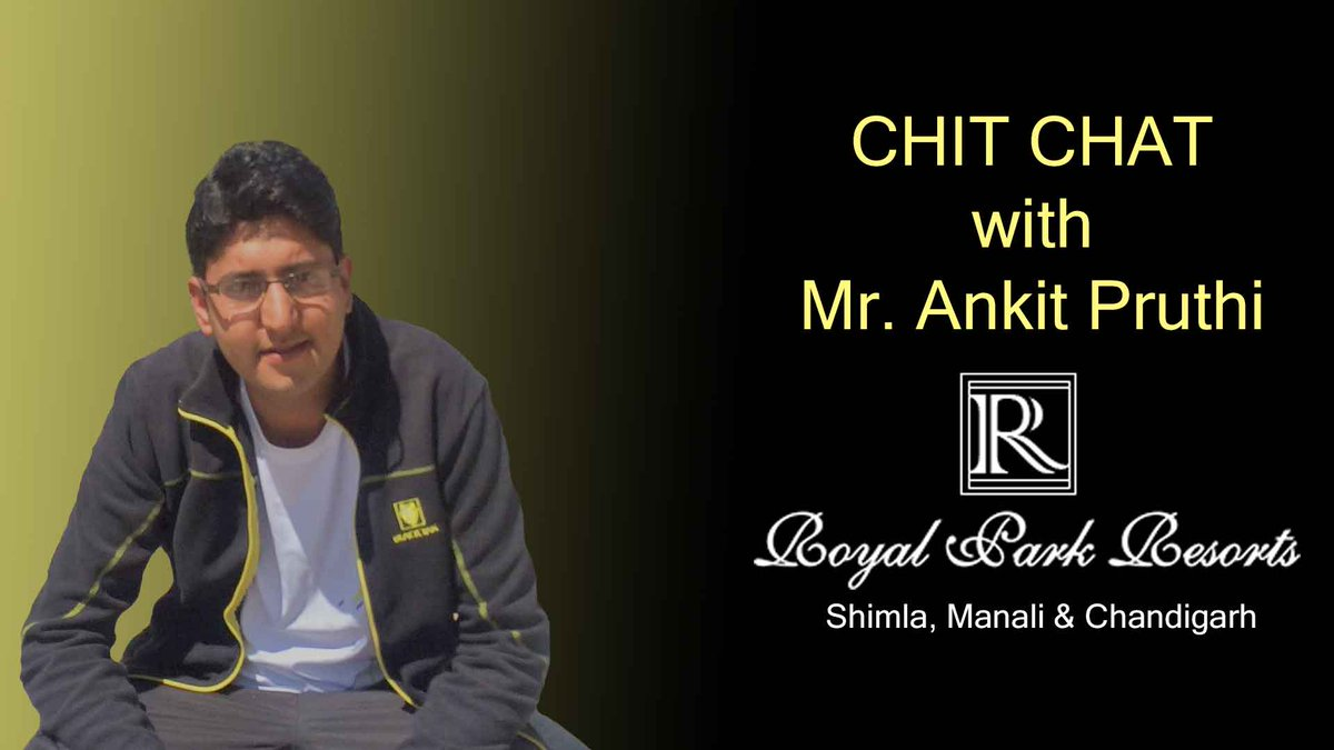 Covid Chit Chat with Mr. Ankit (Royal Park Group of Hotels - North India),  #When are hoteliers planning to open up their hotels at Himachal?  #What all precautions they are taking?  many more questions....  #CovidChitChat #ClickParamount #ClickMobileApp https://t.co/FJ9Clf73As https://t.co/dxt0SmjAv1