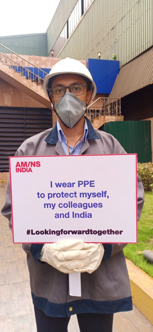 By wearing Personal Protective Equipment (PPE) our colleagues are maintaining a safe working environment while continuing to deliver for customers and for India. #Lookingforwardtogether #SmarterSteelBetterWorld https://t.co/yrISMaWLgg