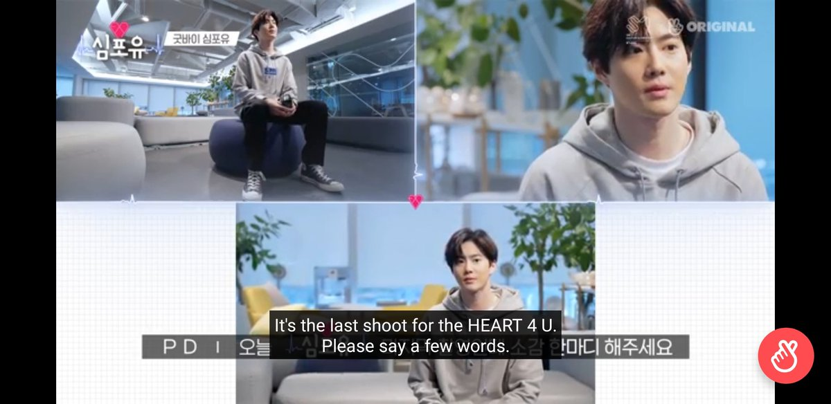 #Heart4U Ep 24: Last Episode. Caught it on premiere 😭  Thank you for these memories of you that we get to watch while you're in the military! You take care. We'll always wait here. EXO, 사랑하자! 💎❤  @weareoneEXO #Heart4U_SUHO #SUHO https://t.co/zP0PU9KfQD