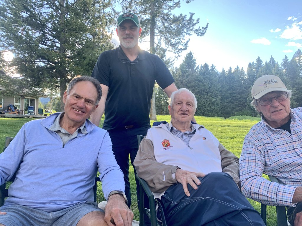 Great day to be in Big Sky with friends. Thank you, Herb Lewis, Lee Lewis and Rex Dollinger.