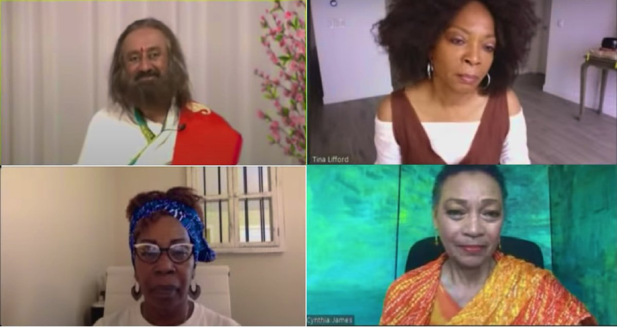 Spirituality brings clarity to mind, keeps our heart pure, and brings sincerity in our actions. Had a discussion with @IyanlaVanzant @tinalifford & @revcynthia, eminent women personalities from the USA. #WorldMeditates https://t.co/8wBZvMuoDf