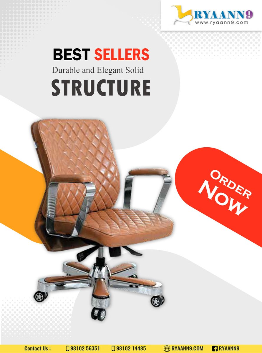 Let your style make an impression on people. Fill your office with beautiful furniture. #RYAANN9 #MAHLAXMI #OFFICECHAIRS #WORKSTATION For Further information please visit us: http://www.ryaann9.com  CALL US: 9810256351, 9810214485pic.twitter.com/exO2DALHVE