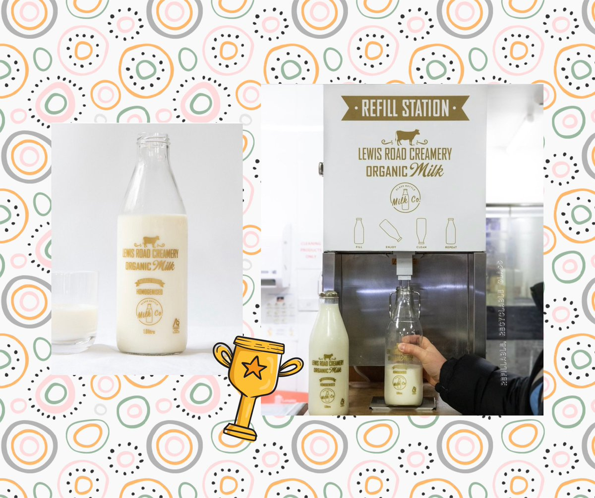 Milk in glass again 😊 @lewisrdcreamery trials refillable milk bottles at @FarroFresh #recycling #circulareconomy https://t.co/wffEuyjLw7
