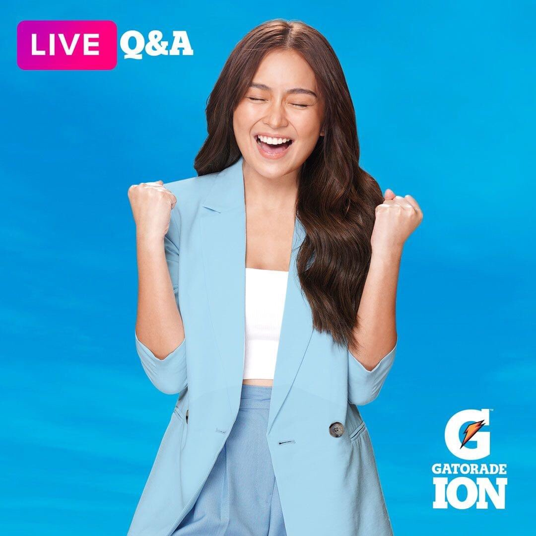What better way to spend the day with our newest ambassador, Kathryn Bernardo! Join her and special guest, Robi Domingo for a special IG LIVE Q&A later at 5PM! Follow @GatoradeIon on all social media platforms to stay updated. #CatchUpWithKath #GatoradeIon #EverdayHydratION