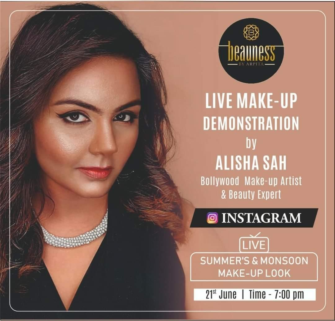 Live Makeup Demonstration by @Alishaasah  #Alishaasah #Suratmakeupartist #Indianmakeupartist #Makeupartistinsurat #Gujratmakeupartistpic.twitter.com/hr8FeT1Say