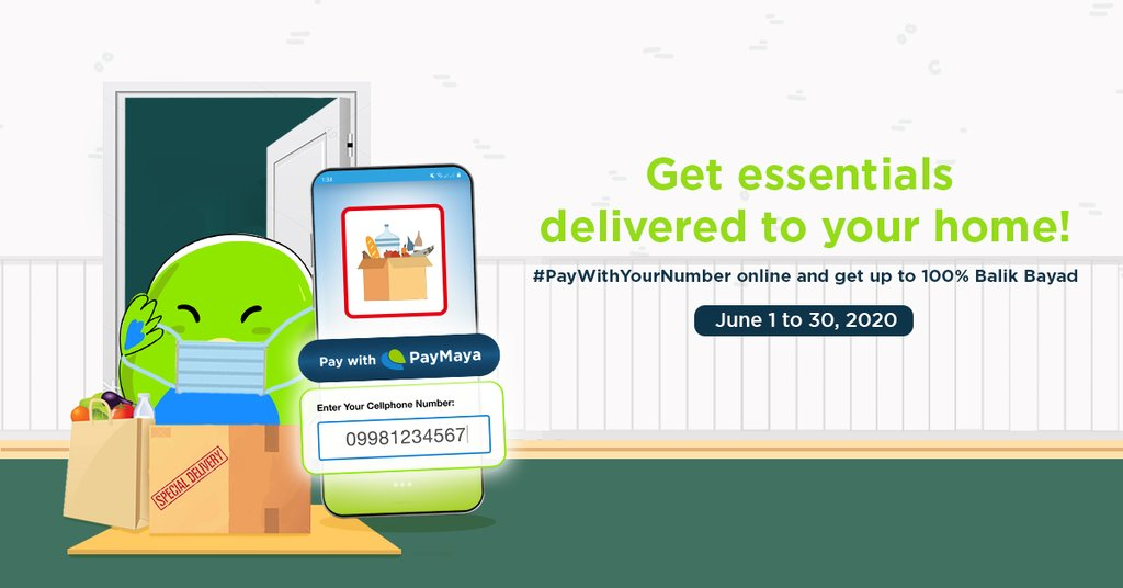 """RT iSTORYAnet """"Just #PayWithYourNumber when you order your grocery, food and pet supplies online!   Click on the """"Pay with PayMaya"""" button in the checkout page of our partner merchants! Plus, get 1%, 10% or 100% cashback, capped at P500 . Minimum s… """""""