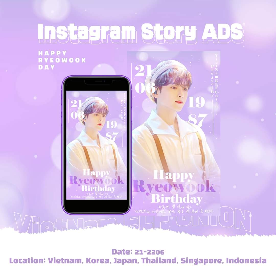 💜 HAPPY RYEOWOOK'S BIRTHDAY PROJECT 💜  This Instagram story ads will be available at: @vietnamelfunion0611 insta account.  🗓 21 - 22.06.2020.  📍 Vietnam, South Korea, Japan, Thailand, Singapore, Indonesia.  Please wait for it!   #HappyRyeowookDay #SuperJunior #VEU #VietnamELF https://t.co/GnPZEuqTTe