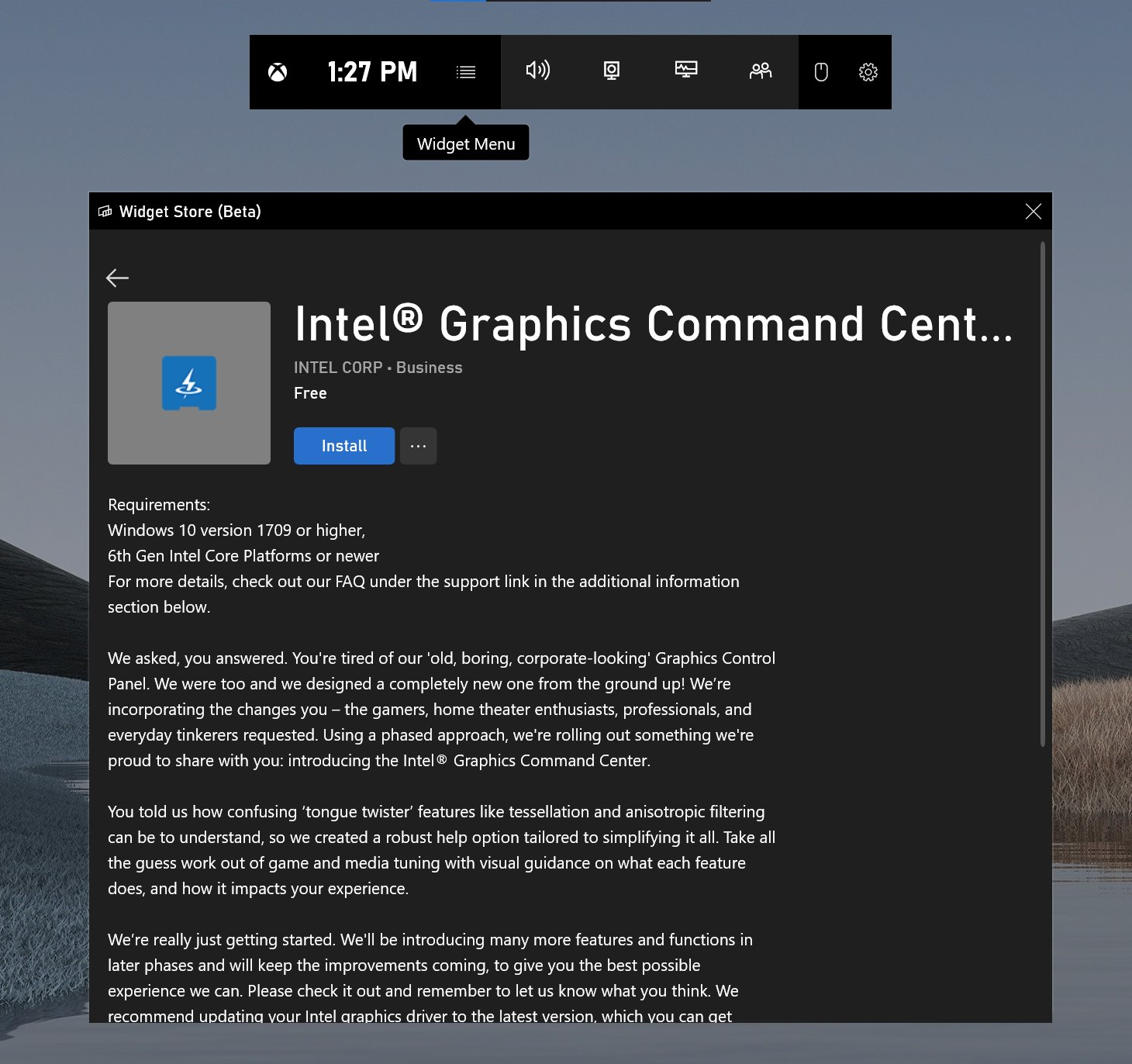 Intel® Graphics Command Center (Beta)