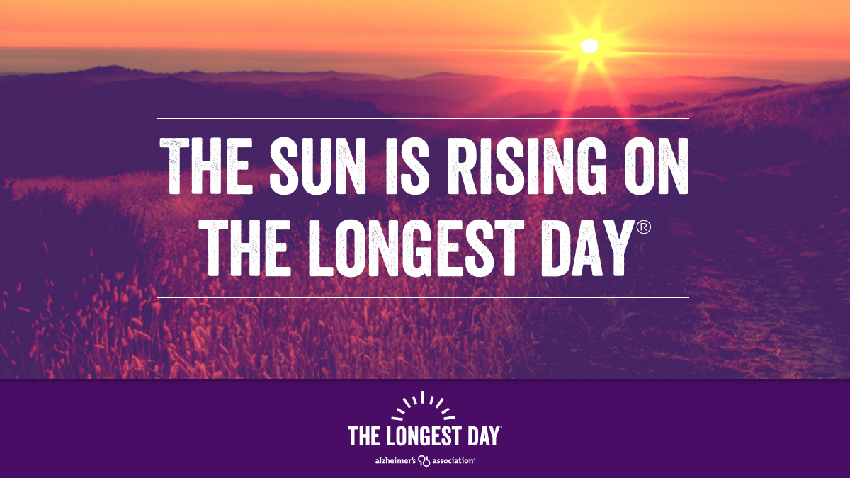 It's time to fight on the day with the most light! Today, on #TheLongestDay, thousands will fight the darkness of Alzheimer's by raising funds and awareness to #ENDALZ. Watch the day unfold in our online gallery at https://t.co/YCrQPZj2Gz. https://t.co/ZiZ6GH7KvI