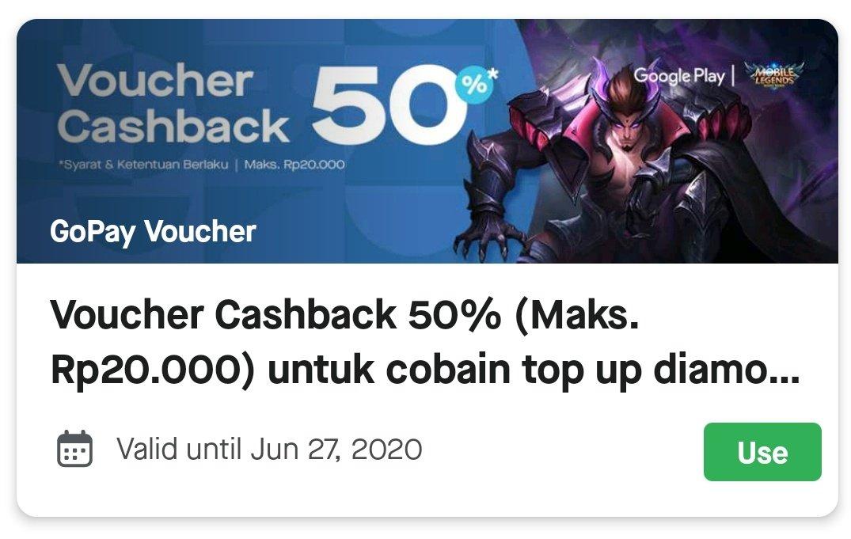Racun Belanja Info Diskon Promo Cashback A Twitter Kode Promo Gojek Voucher Cashback 50 Maksimal 20rb Untuk Pembelian Diamond Mobile Legends Menggunakan Gopay Di Google Play Https T Co Ukzede3fag