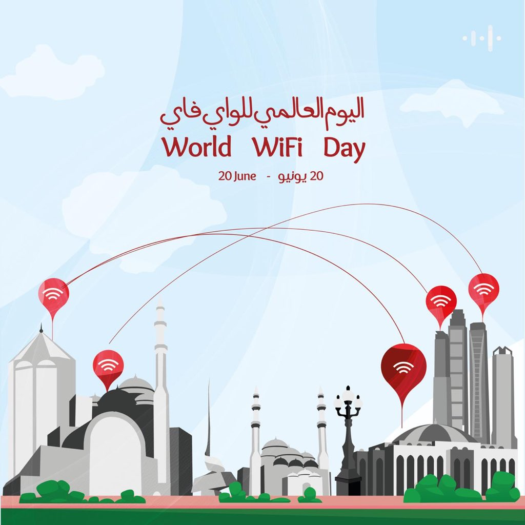 """""""World Wi-Fi Day""""on June 20th is a global initiative to celebrate and recognise the phenomenal role that Wi-Fi plays in our life by connecting people cities and communities around the world. It hosts exciting and innovative solutions to bridge the digital divide. #sharjah #deg https://t.co/y0il4iSyko"""