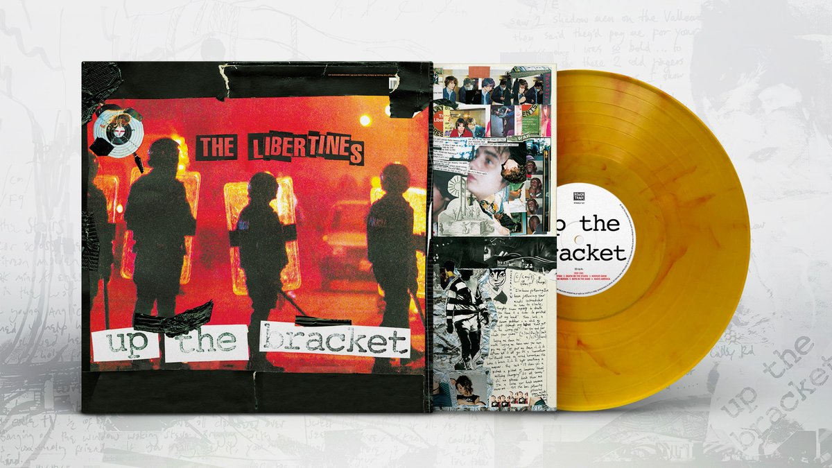 Good Morning! The Libertines (@libertines) iconic debut album 'Up The Bracket' is now available on limited edition Yellow Marble Vinyl. Part of the #LoveRecordStores event @LoveRecsStores. Find it at your local store https://t.co/3o3ioMvFlf #thelibertines https://t.co/iYuGubobDI