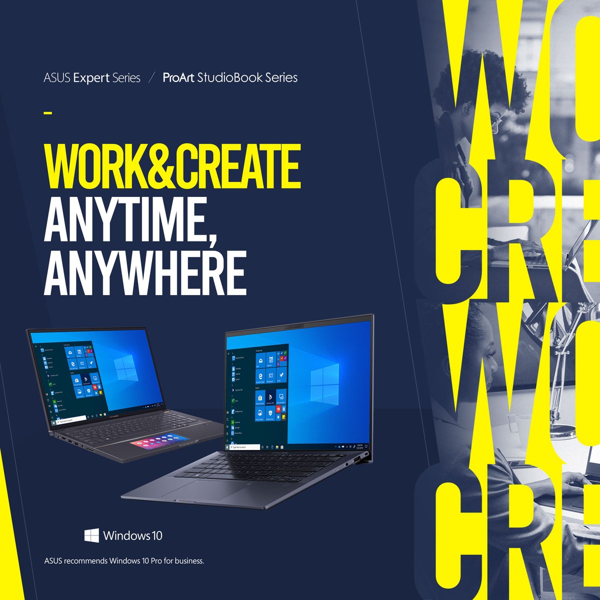 """Work & create anytime, anywhere with the world's lightest 14"""" business laptop, the ASUS ExpertBook B9, and the most powerful content-creator mobile workstations, the ASUS ProArt StudioBook Series. https://t.co/2cnbPKfpoc"""