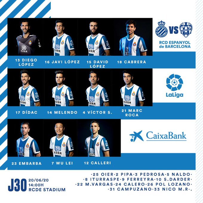 Ea8z7zaWAAE9WTv?format=jpg&name=small Alineaciones confirmadas Espanyol-Levante - Comunio-Biwenger