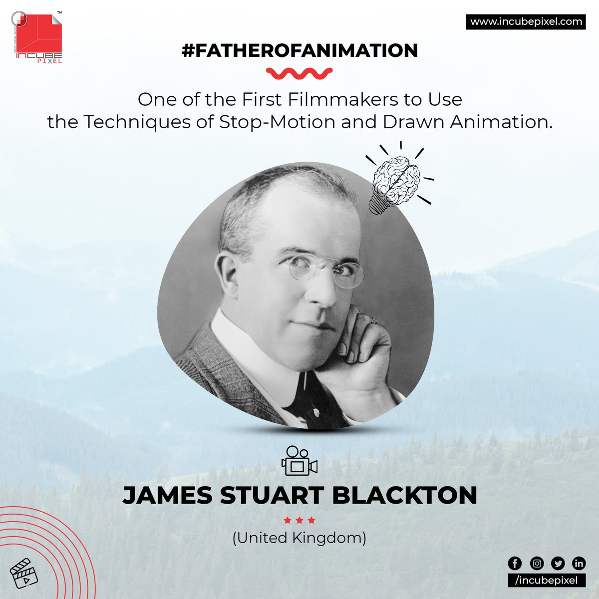 AMES STUART BLACKTON - One of the First Filmmakers to Use the Techniques of Stop-Motion and Drawn Animation.  #incubepixelvibes #incubepixel #innovators #incubeinspire #incubebrandingstudio #incubecorporatebranding #filmproductionstudio #politicalcampaigns pic.twitter.com/bydddwWYfi