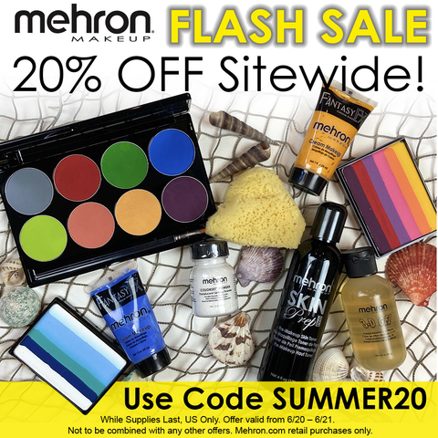 You asked for it! Sitewide Flash Sale starts now and ends Sunday.⛱️🐚☀️ Don't miss it.   #mehronmakeup #flashsale #sale #discount #summer #summersale #sfx #bodypaint #promakeup https://t.co/ZorpjZSKQN