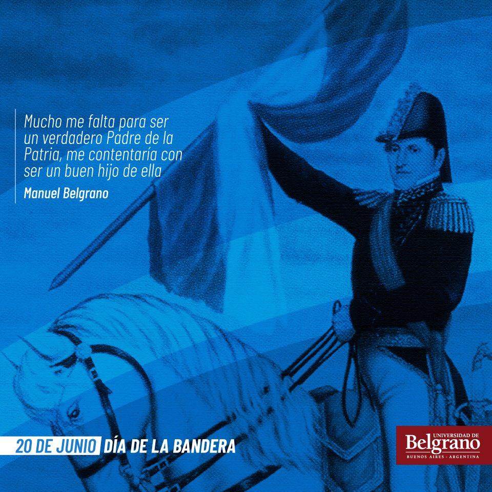 Hoy se conmemora el #DíaDeLaBandera a 200 años del paso a la inmortalidad de su creador, el General Manuel Belgrano. #diadelabanderaargentina #BanderaArgentina https://t.co/JZPW9cyY6f