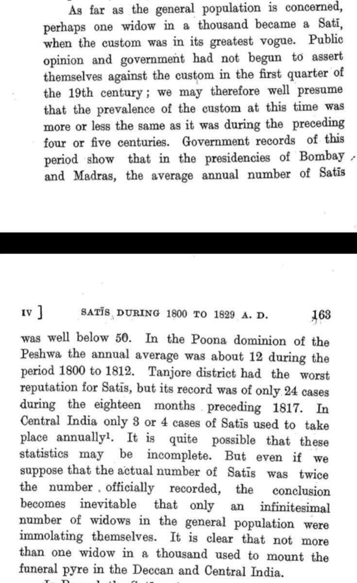Even when British arrived Sati was not Prevalent in society, in Poona dominion of Peshwa annual average was 12 for 1800-1812, Sati pratha was practiced mostly in Bengal and see that in comparison to Population at that time.