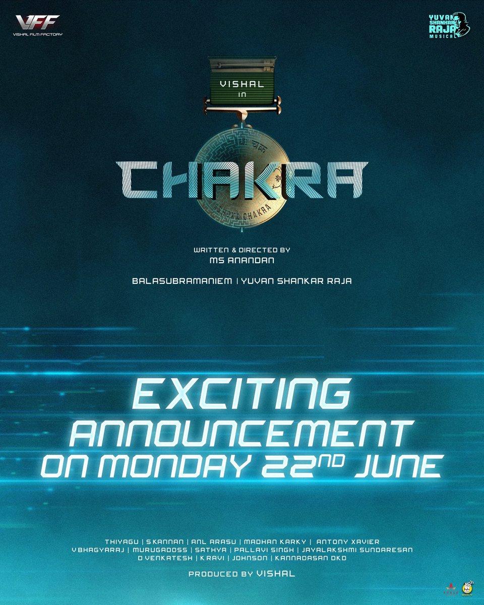 @thisisysr A Yuvan Shankar Raja Musical 🔊🔉🎧 #Chakra Monday 😊 @VishalKOfficial @VffVishal Keep guessing 🥳 https://t.co/MkGCWkFIwh