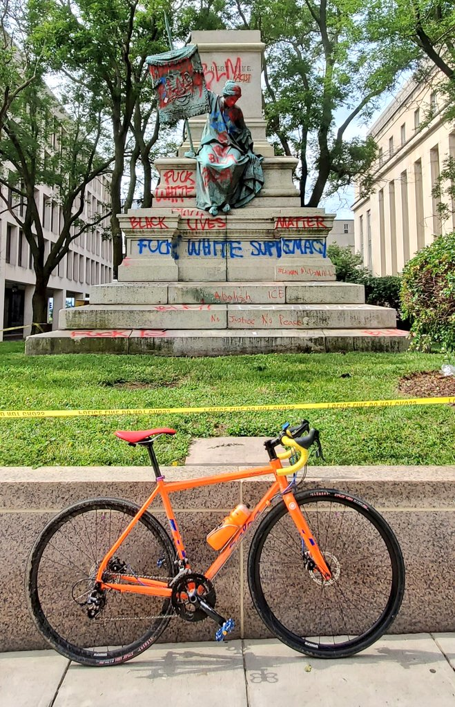 We're so sorry, Confederate Brigadier General Albert Pike, to see you go! But we really hope you enjoyed the show! Pike also supported the #KKK & committed war crimes against U.S. soldiers at Battle of Pea Ridge in 1862. #bikedc #dcprotest #BlackLivesMatter #BlackLivesMatttersDC https://t.co/6PR0rINEOL