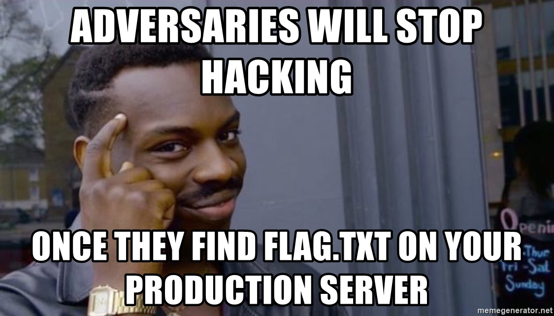 Someone tell me I'm wrong. 😁  #infosec #hacking #ctf https://t.co/Sfck99I79S